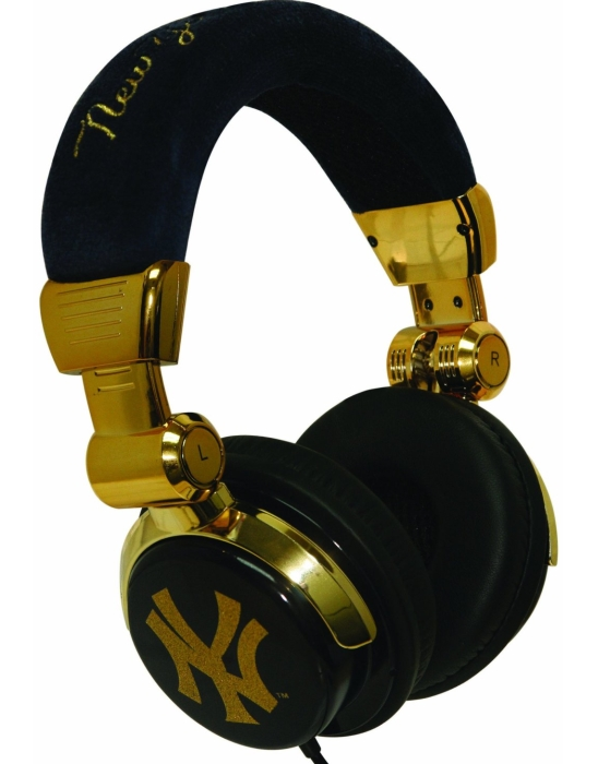 New York Gold DJ Style Headphones