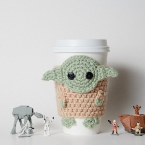 Star Wars Inspired Yoda Coffee Cup Cozy