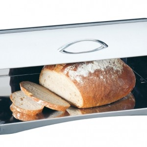 Kuchenprofi Roll-Top Bread Box in 18/10 Stainless Steel
