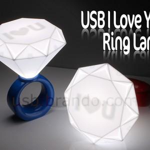 USB I Love You Ring Lamp