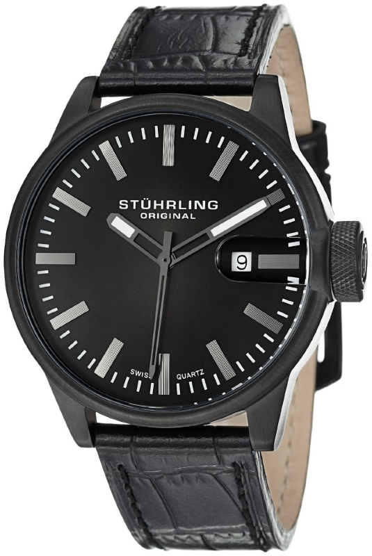 Stuhrling Original Men`sLeather Strap Watch