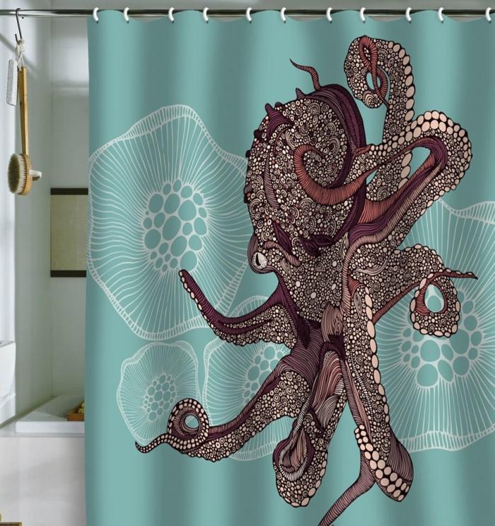 Octopus Bloom Shower Curtain