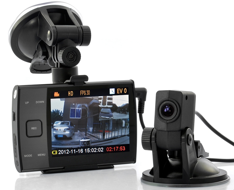 HD 720p Dual Camera Car DVR