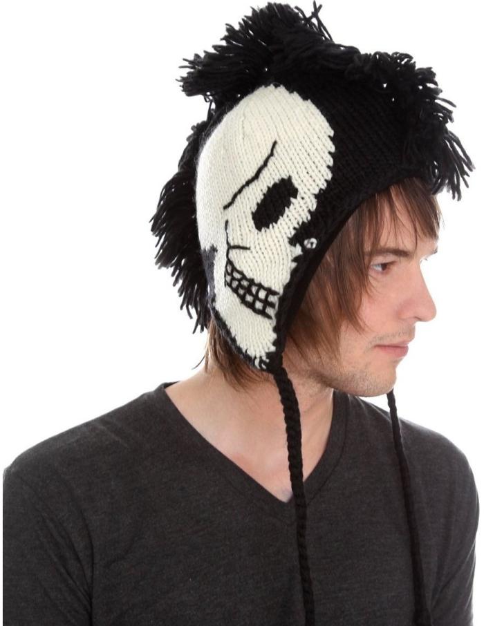 Gothic Punk Beanie Hat
