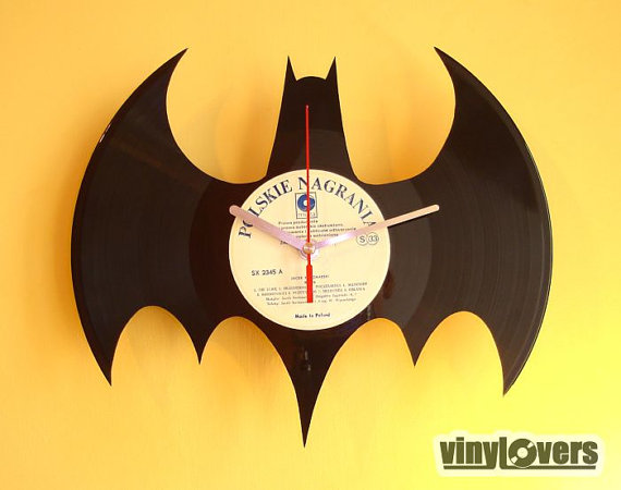 BATMAN gift handmade unique wall clock