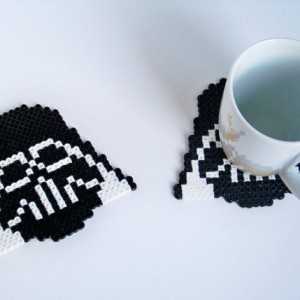 pixel bead 2 pcs star wars coasters