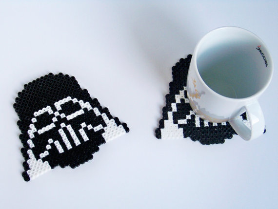 Pixel star wars coasters