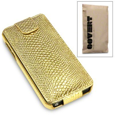 Gold snakeskin flip case for iphone 5