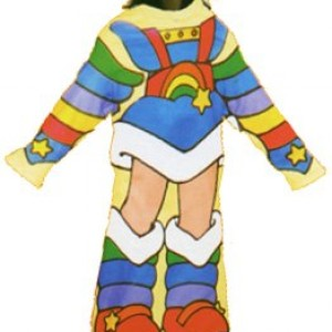 Rainbow Brite Comfy Cozy Fleece Blanket with Sleeves