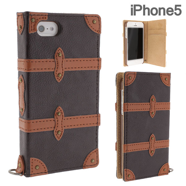 Flap Type Trolley iPhone 5 Diary Case