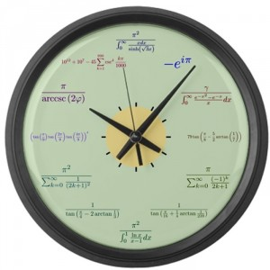 Math Large Wall Clock
