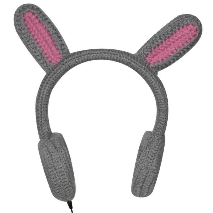 Rabbit Ear Warmer Earmuff Headphones Compatible