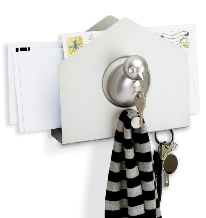 Wall-Mount Organizer with Magnetic Key Holder