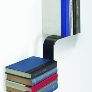Conceal L-Shaped Floating Bookshelf