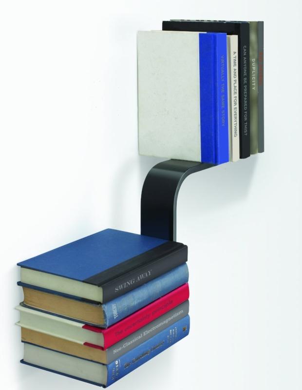 Conceal L-Shaped Floating Bookshelf
