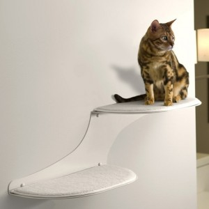 The Refined Feline Cat Cloud Cat Shelves in White