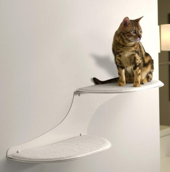 The Refined Feline Cat Cloud Cat Shelves in White