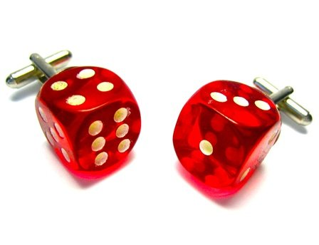 Glow In The Dark Dice Cufflinks