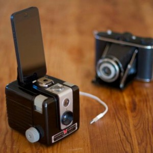 iPhone 5 dock from vintage camera