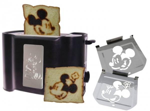 Vintage Mickey Toaster in Retro Bread Box