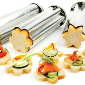 3 Piece Canape Bread Mold Set