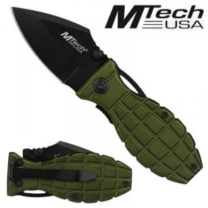 M-Tech Folding Knife Grenade Green