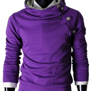 TheLees Mens casual luxury buckle hoodie