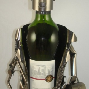 Doctor Metal Wine Bottle Holder
