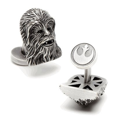 Star Wars 3-D Palladium Chewbacca Cufflinks