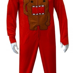 Domo Adult Footie Pajamas with Hood