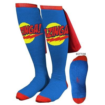 The Big Bang Theory Bazinga Cape Socks Superman