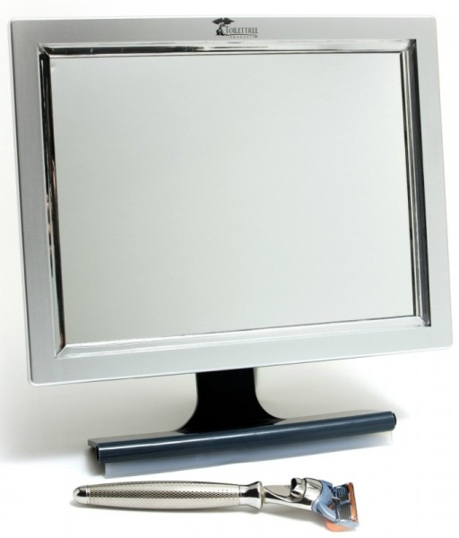 LED Fogless Shower Mirror with Squeegee
