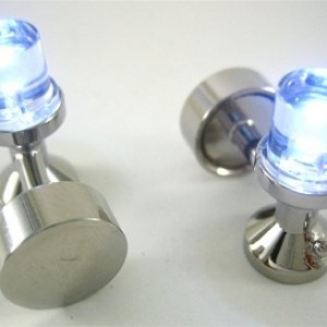 LED White Light Cufflinks