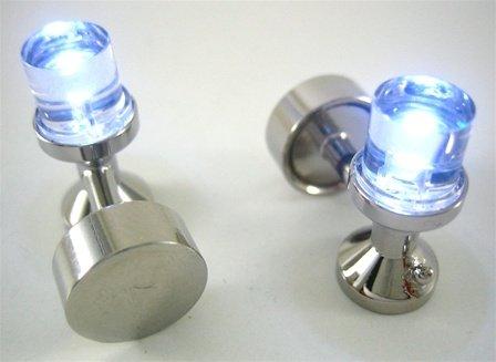 LED White Light Cufflinks