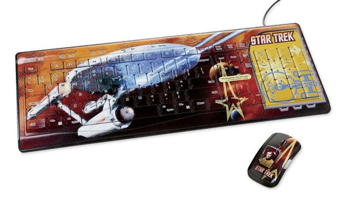 Star Trek USB keyboard & wireless mouse set