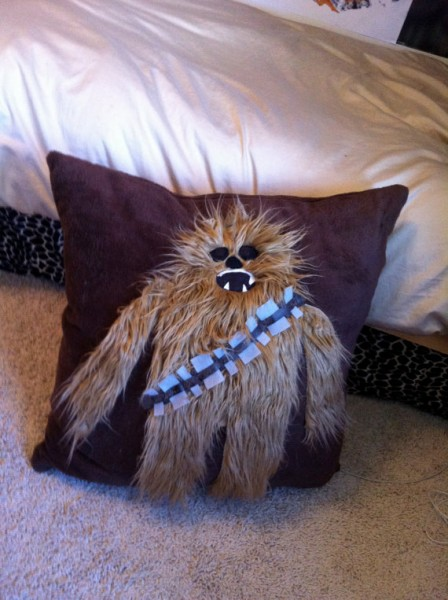 chewbacca decorative floor pillow