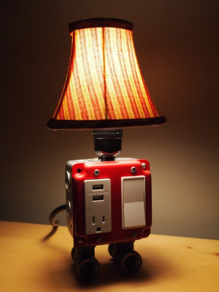 Table or Desk lamp with USB charging station for (Iphone, Blackberry, Android, etc)