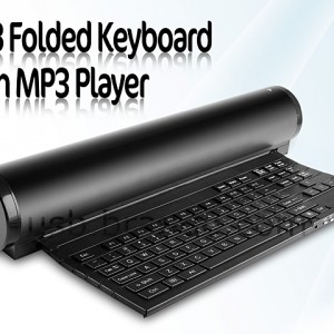 USB Folded Keyboard with MP3 Player
