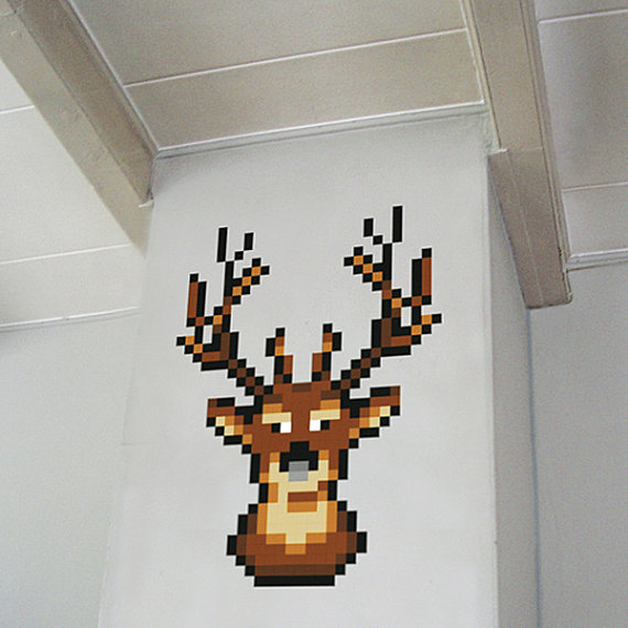 Reindeer Wall Decal The Pixel Puzzle