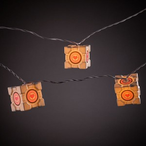 Portal Companion Cube String Lights