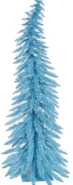 Sky Blue Whimsical 70 Blue Lights Christmas Tree