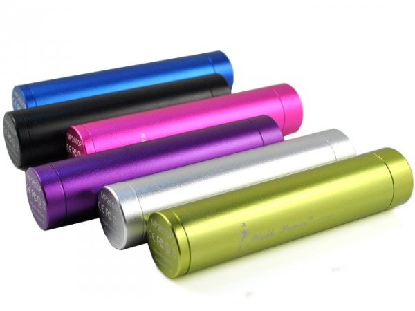 2600mAh Colorful External Battery Pack and Charger