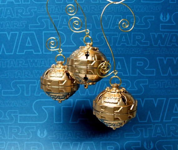 Star Wars Christmas Ornaments in Gold