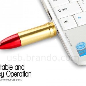 USB Metallic Lipstick Flash Drive