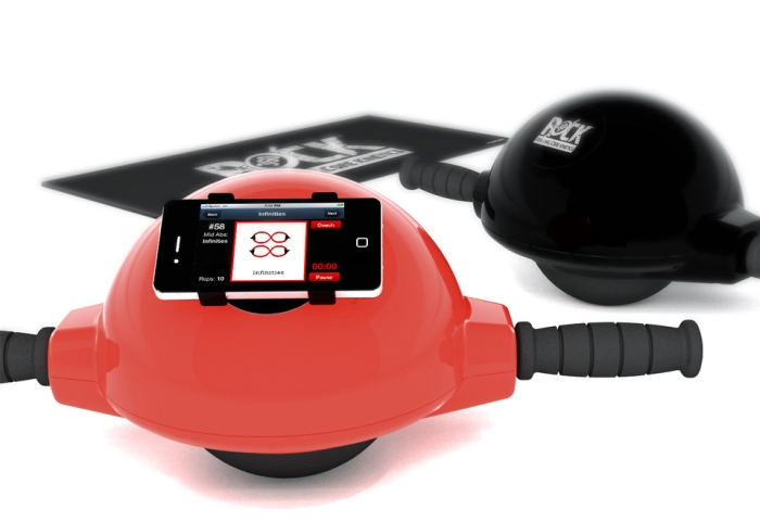 Rolling Ab Exerciser with Smartphone Dock