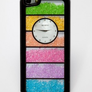 Watch Rainbow Swarovski Element Crystal Phone Case Cover for Iphone 5