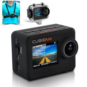 """Waterproof 1080p HD Sports Camera """"Cubicam"""""""