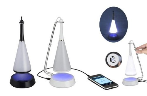 USB Touch-Sensitive Lamp with Mini Speaker