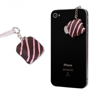 Chocolate Square Earphone Jack Accessory