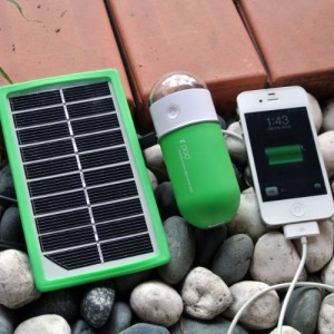 Multifunction Portable Solar Battery Pack and USB Charger with ultra High Flux LED Light compatible with Apple iPhone 4S, iPhone 5, Amazon Kindle Fire and most smartphones